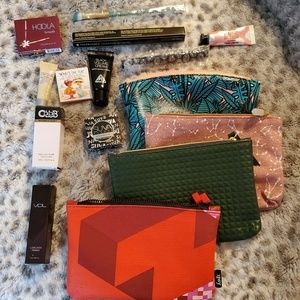 4 ipsy bags with samples.